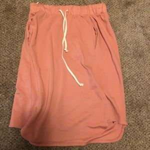 Roolee pink draw string skirt